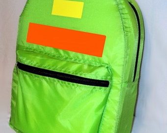 Pokemon Ash Ketchum Trainer Lime Green  Backpack great for costume
