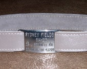 Leather Custom Tag Collar for Greyhounds - Taupe Leather
