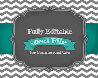 Fully Editable Chevron Digital Paper .psd File for Commercial Use
