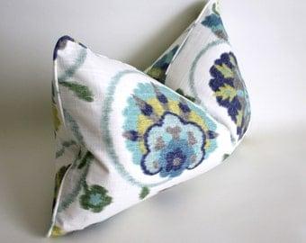 "12x20"" Lumbar Pillow Covers in P Kaufmann's Pamir AquaMarine, Throw Pillow, Cushion Cover"