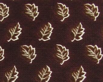 Vintage Structure Usa Leaf Stripe Brown Oldlace Men Silk Neck Tie Necktie #Ee
