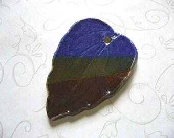 Three In One Ceramic Leaf Pendant