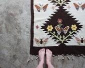 vintage wool rug, 5' x 3'
