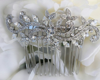 wedding hair comb,wedding hair accessories,bridal hair comb,bridal hair accessories,art deco,vintage hair comb,crystal comb,hair accessories