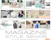 INSTANT DOWNLOAD  Magazine Style Facebook Timeline Covers Set of Six