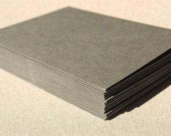 Set of 20 Dark Grey Envelopes - A2 Size / Slate Gray Envelope Set
