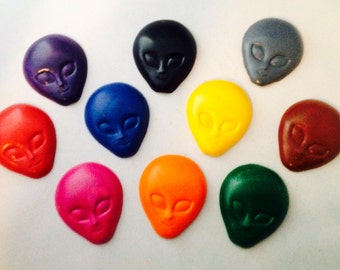 Alien crayon set of 10