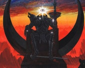 The Dark Lord On His Dark Throne . Sauron . Print