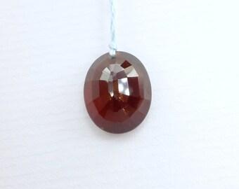 GARNET. Natural. Almandite. Ex-TRA Large FoCaL BeAd Deep Red. Oval Native Cut.  1 pc. 10 cts. 15x12x7 mm (Ga684)