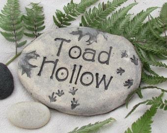 """Toad decoration for natural garden """"Toad Hollow"""" Rustic Garden decor."""