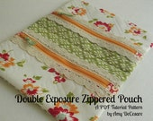 NEW - Double Exposure Zippered Pouch Pattern - Tutorial Style PDF Pattern