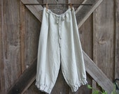 linen pant bloomer knicker britches girlie pantaloon natural oatmeal flax ready to ship