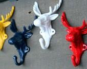 Stocking Antler Hooks, Custom Christmas Mantle, Antler Rack, Moose, Deer, Reindeer, Christmas Horn, Stocking Mantle Hook, Santa Sled Deerl