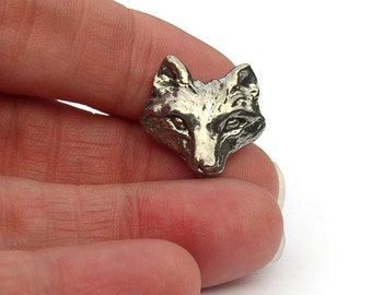 Green Girl Studios Wolf Buttons Pewter