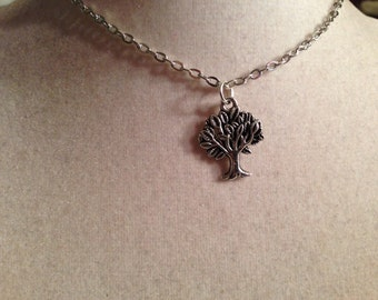 Tree of Life Necklace - Silver Jewelry - Pendant Jewellery - Chain - Fashion - Kitsch - Hipster