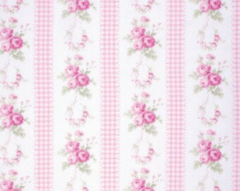 Tanya Whelan Country in Pink Slipper Roses Fabric One Yard
