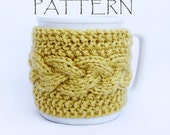 Pattern Knitted Braid Cup Cozy