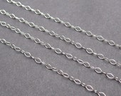Sterling Silver Necklace Chain, Interchangeable Necklace Chain, Dainty Sterling Silver Chain with Sterling Silver Lobster Clasp