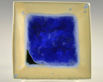 Blue Crystalline Glazed Tray