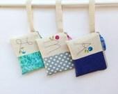 Unique Flower Girl Gift, Set of 3 Wedding Wristlets, Wedding Bag for Flower Girl, Monogram Initial  MADE TO ORDER MamaBleuDesigns