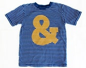 Ampersand Applique Typography! Shirt Boys Size 7 8