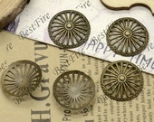 20 PCS Of 20 MM Antique Bronze wheel Connector beads ,metal finding,pendant beads, Charms beads