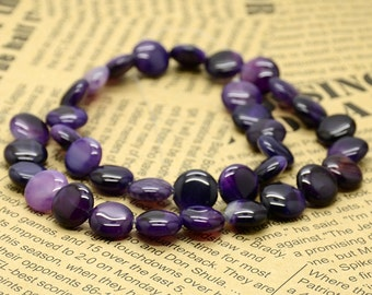 12mm Purple Coin Agate nugget beads,stone beads,gemstone beads loose strand 15inch