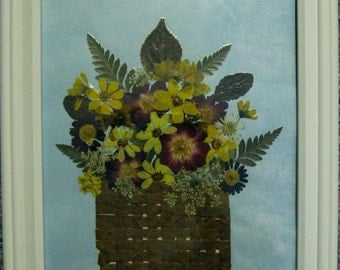 Pressed Flower Picture No. 246  NEW