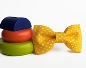 Baby bow tie-baby bow ties-pastel yellow-polka-color-twins baby prop-ring boy bowtie
