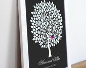 Wedding Guestbook Tree-wedding tree--  To Be Personalized With Guest's Signatures - 20x30 - 250 Signature Wedding Guest Book tree
