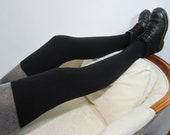 Cashmere Thigh Highs Socks Over the Knee Sock Leg warmers Boot Socks Black Cotton Blend Sweater Knit A844