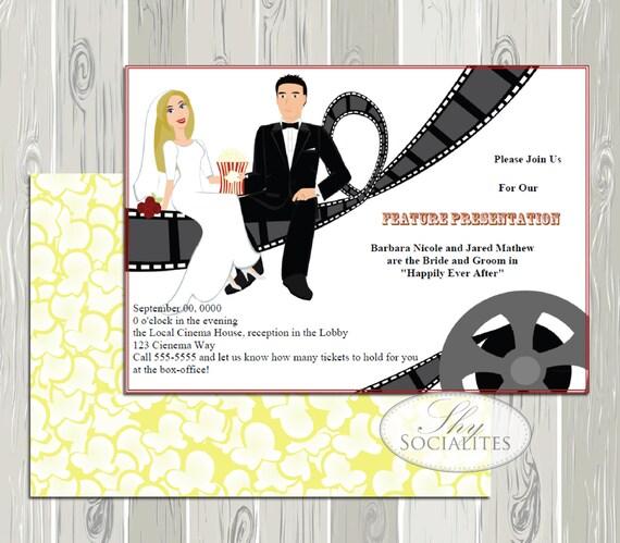 Items Similar To Movie Themed Wedding Invitation, Movie