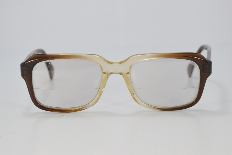 vintage eyewear 1950s horn eyeglasses ombre by eadovintage