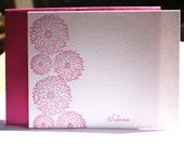 Dahlia Personalized Letterpress Stationery Fuchsia Pink Script Font