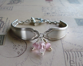 Vintage Silver Spoon Bracelet, Free US Shipping