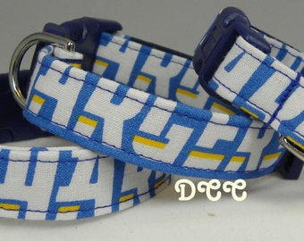 Dog Collar San Diego Charger NFL  Adjustable Dogs Collars w D Ring Handmade  Choose Size Accessories Accessory Pet Pets Sports Football