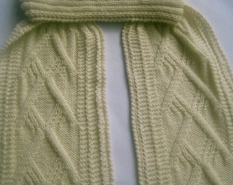 Knit Scarf Pattern:  The Pharoah's Turtleneck Scarf Knitting Pattern