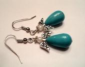 Turquoise Angel Earrings