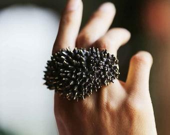 Spike Ring - 3 Finger Ring - Brass Knuckle Duster Spike - Brass Knuckles