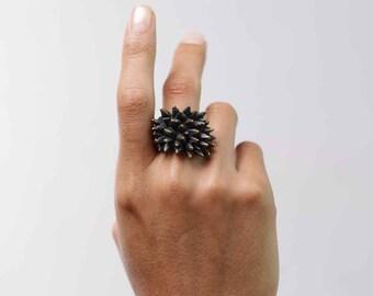Spike Ring - Spike Jewelry - Gold Spike - Brass Ring - Brass Knuckles