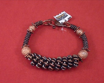 Coiled Copper Bangle Bracelet