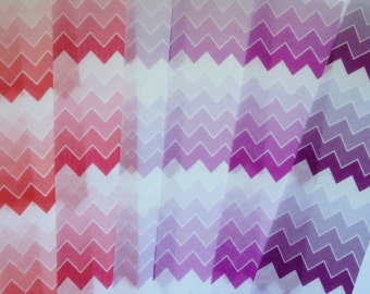 Ombré Chevron VALUEPACK edible image wafer paper FULL SHEETS