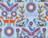 Nordic Woodland  in Blue - FOREST FROLIC - Fun-C3041 - Timeless Treasures Fabric - By the Yard