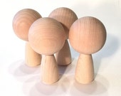 Kokeshi Dolls Big Head - 15 Figures- Ready To Paint DIY Wooden Dolls