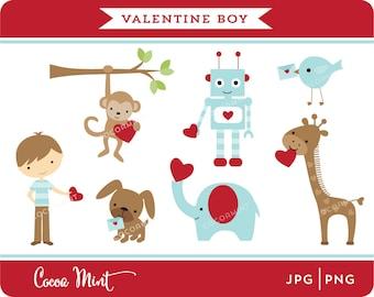Valentine Boy Clip Art