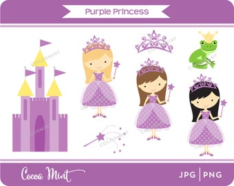 Purple Princess Clip Art