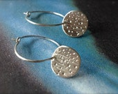 Tiny Starburst Galaxy Sterling Silver Earrings