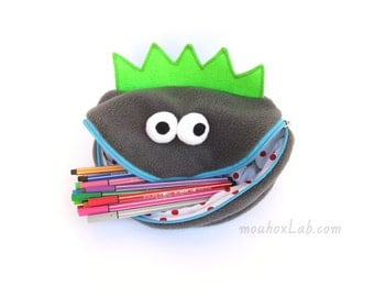 Monster pencil case Art storage bag Kids office desk organizer - READY TO SHIP