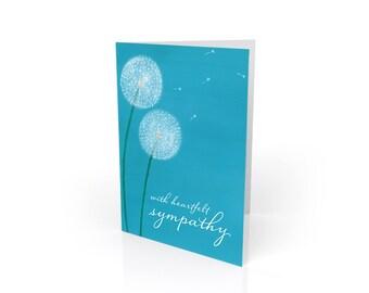 With Heartfelt Sympathy - Dandelion Condolence Card
