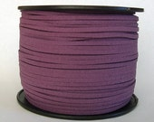 Faux Suede  Cord Lace Cord Leather Flat  Plum 3x1.5mm-20ft